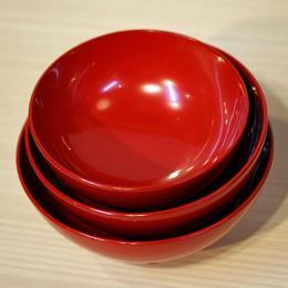 三つ組椀 赤